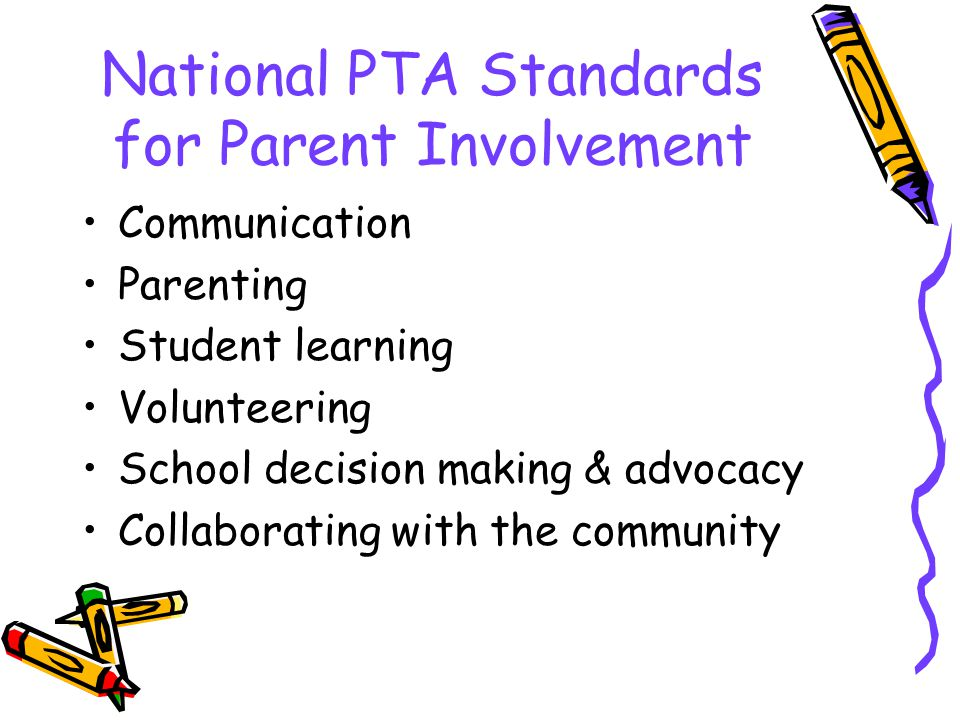National PTA Standards for Parent Involvement