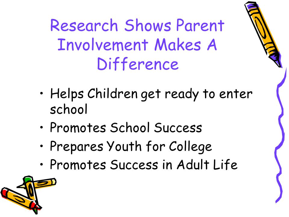 Research Shows Parent Involvement Makes A Difference