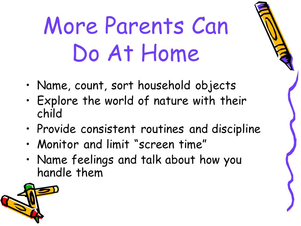 More Parents Can Do At Home