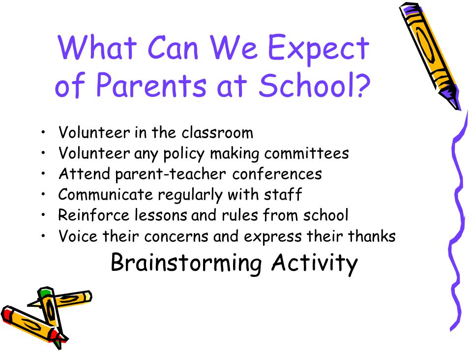 What Can We Expect of Parents at School