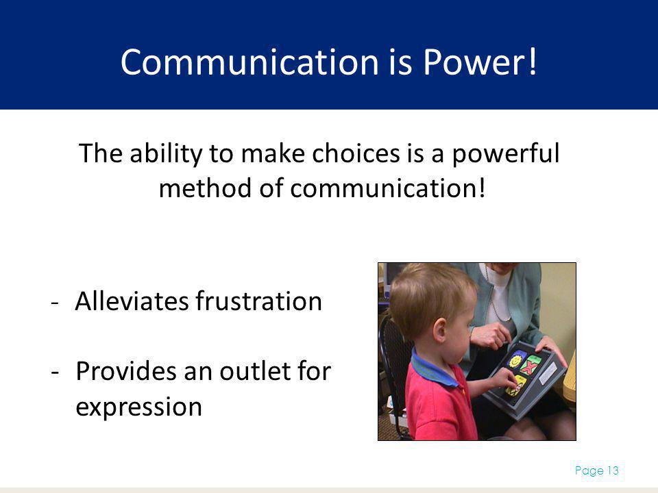 Communication is Power!