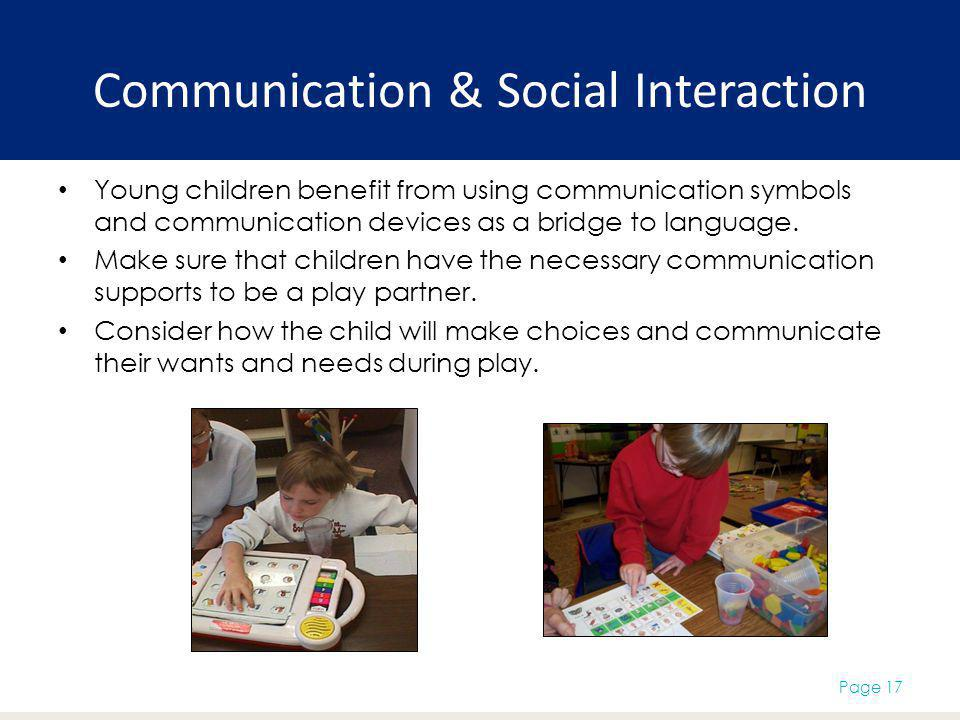 Communication & Social Interaction