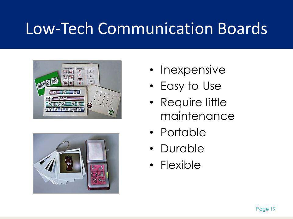 Low-Tech Communication Boards
