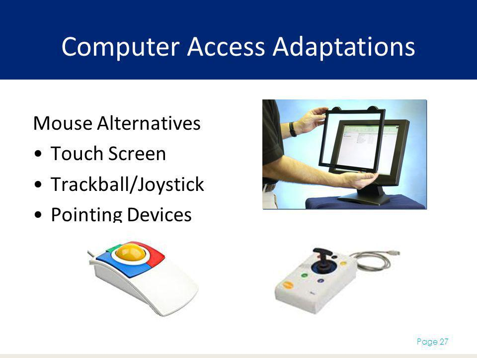 Computer Access Adaptations