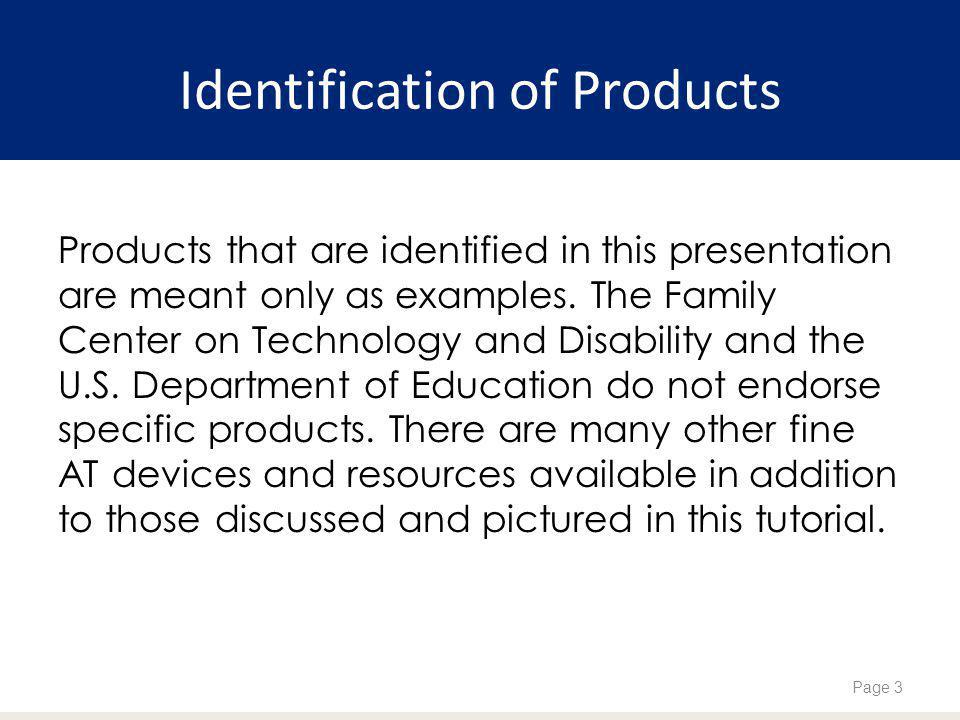 Identification of Products