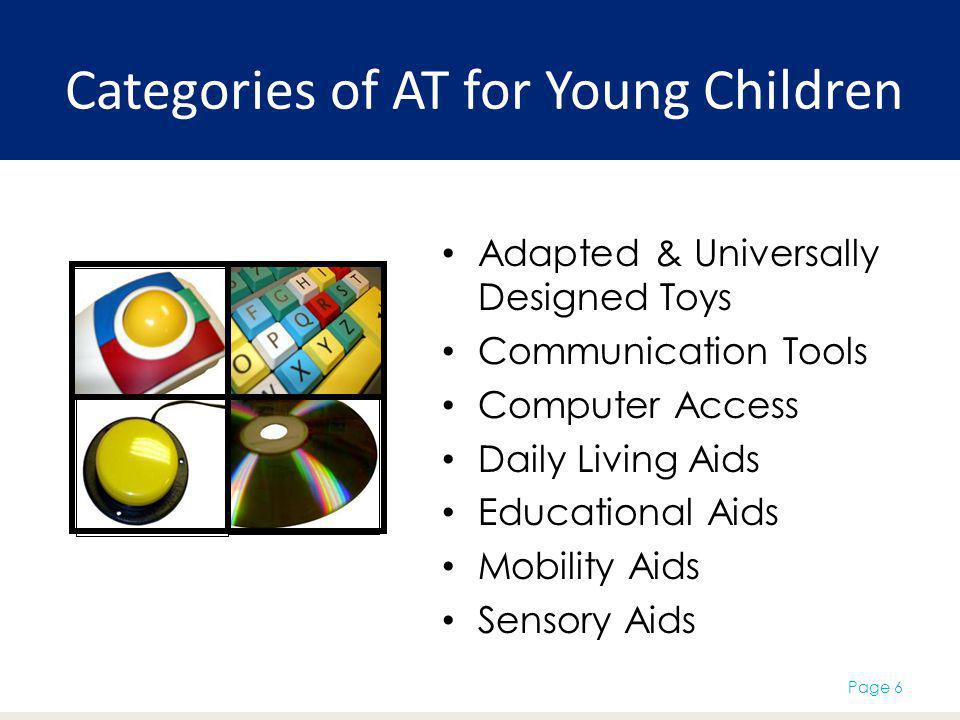Categories of AT for Young Children