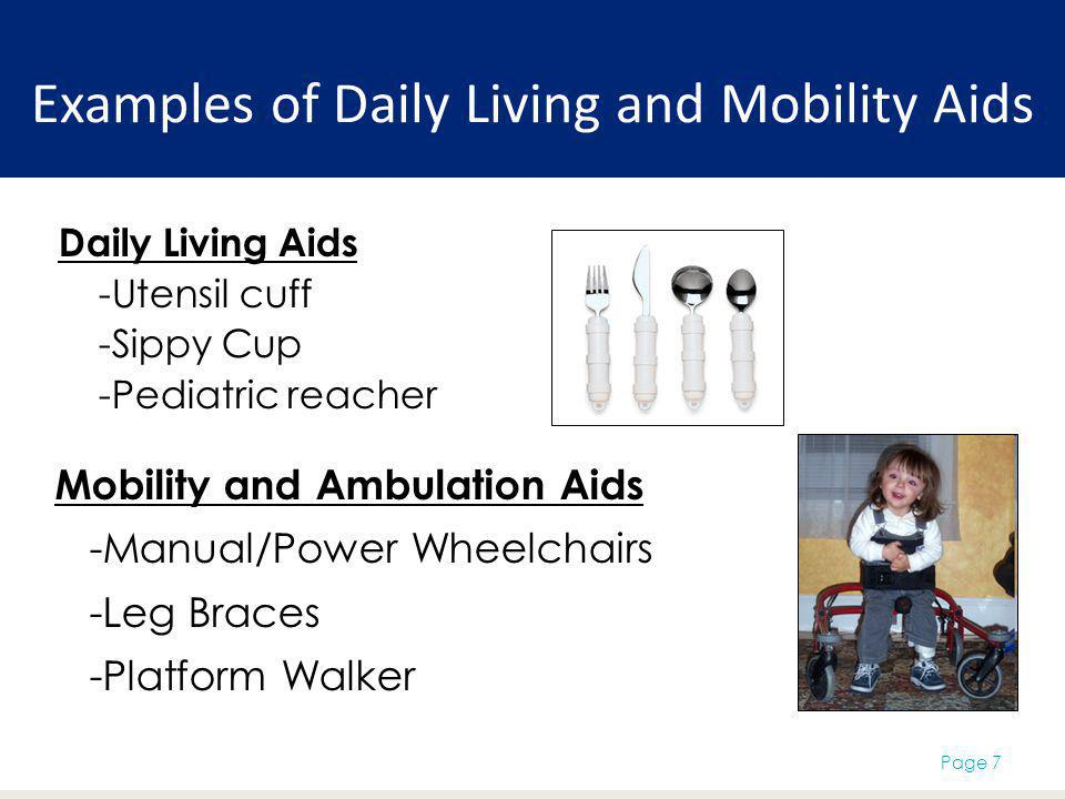 Examples of Daily Living and Mobility Aids