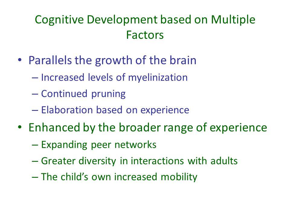 Cognitive Development based on Multiple Factors