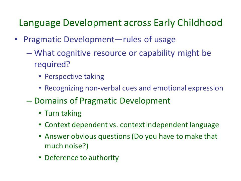 Language Development across Early Childhood