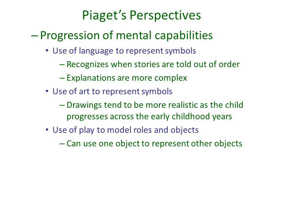 Piaget's Perspectives