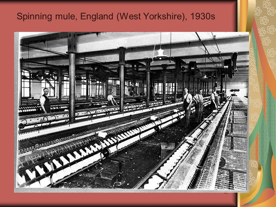 Spinning mule, England (West Yorkshire), 1930s