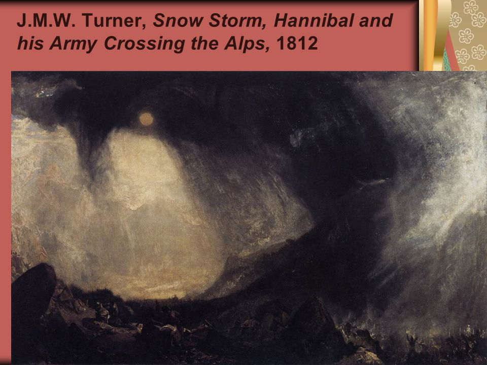 J.M.W. Turner, Snow Storm, Hannibal and his Army Crossing the Alps, 1812