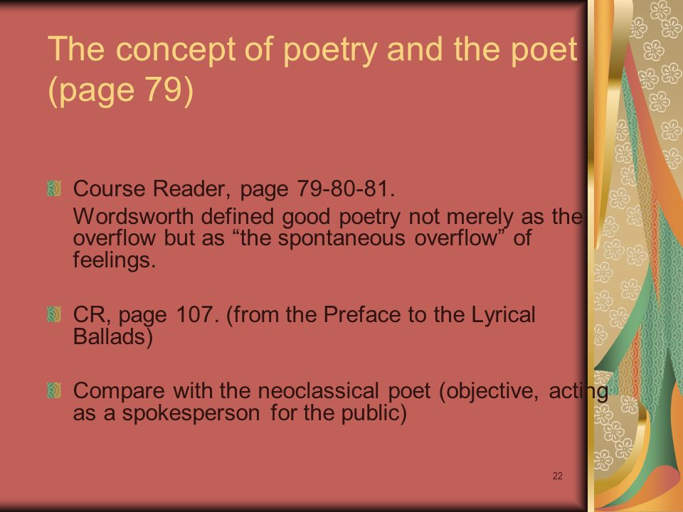 The concept of poetry and the poet (page 79)