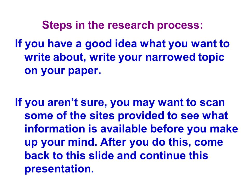 Steps In Research Paper