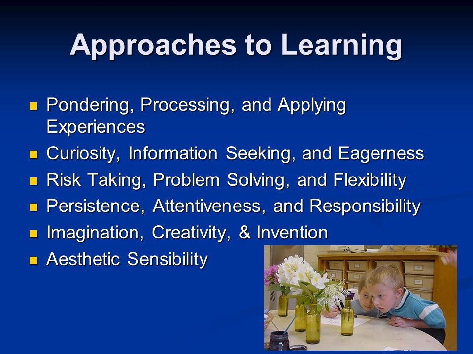 Approaches to Learning