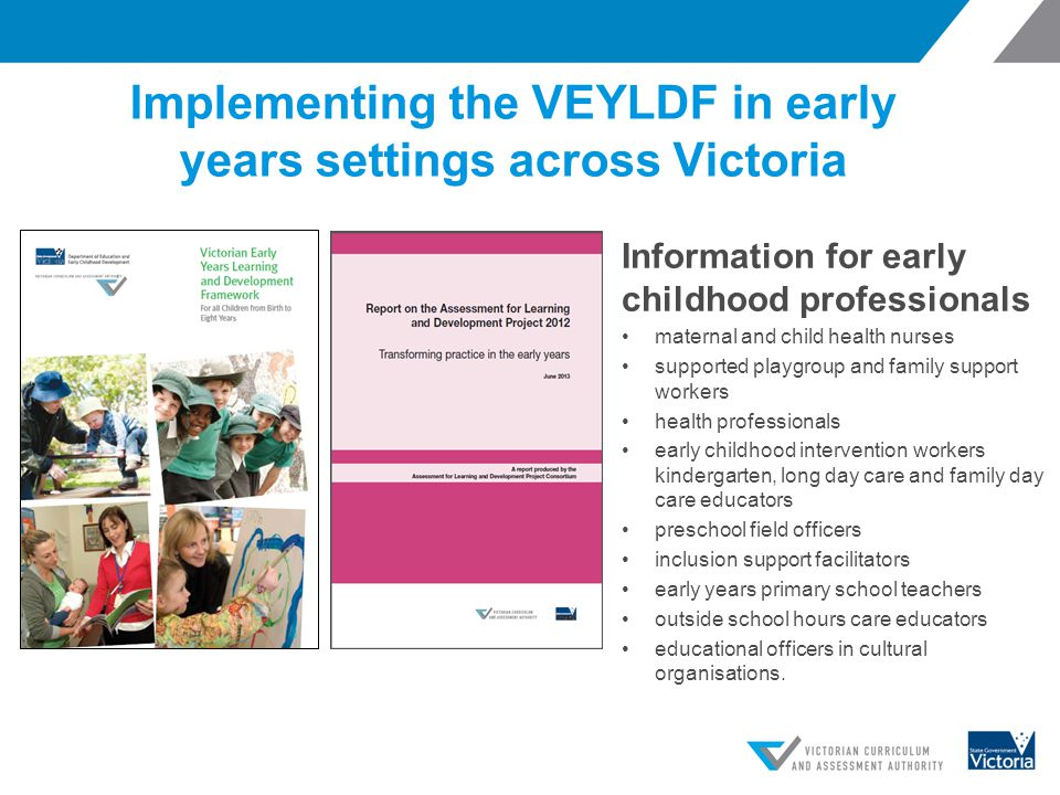 Implementing the VEYLDF in early years settings across Victoria