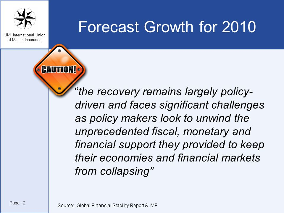 Forecast Growth for 2010 the recovery remains largely policy-driven and faces significant challenges.