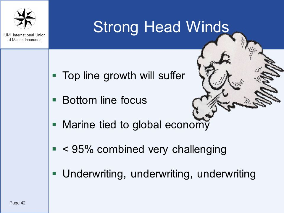 Strong Head Winds Top line growth will suffer Bottom line focus