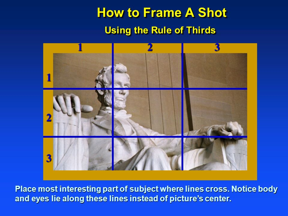 How to Frame A Shot Using the Rule of Thirds