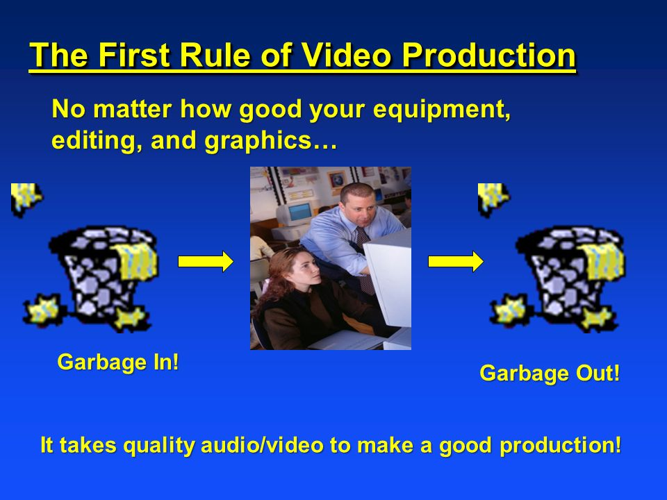 The First Rule of Video Production