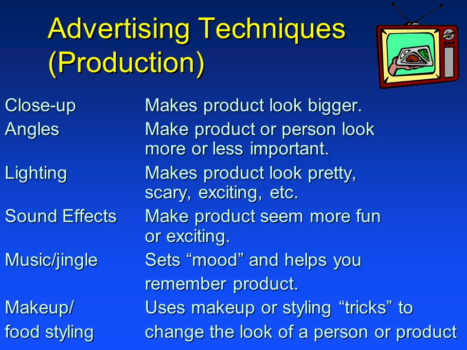 Advertising Techniques (Production)