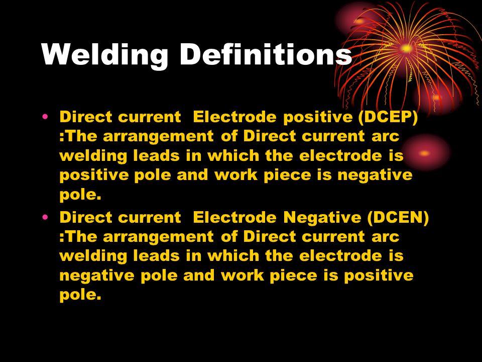 Welding Definitions