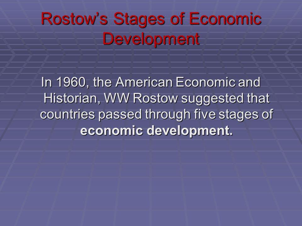 Rostow's Stages of Economic Development