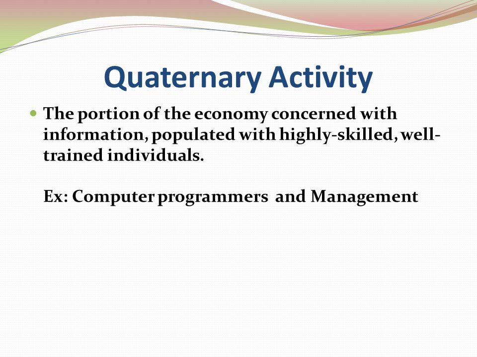 Quaternary Activity