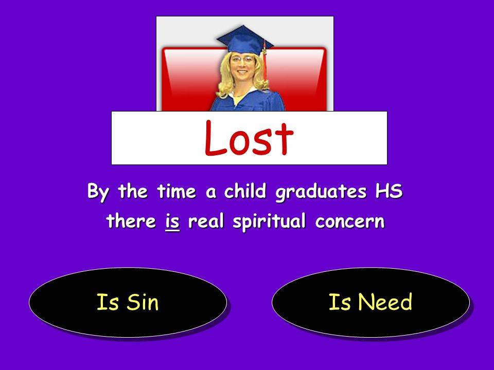 By the time a child graduates HS there is real spiritual concern