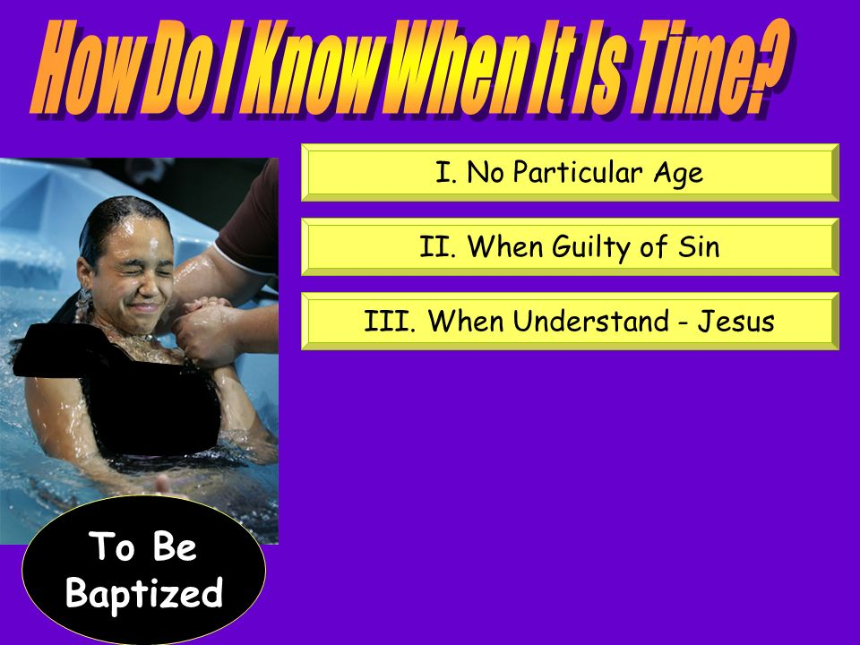 How Do I Know When It Is Time