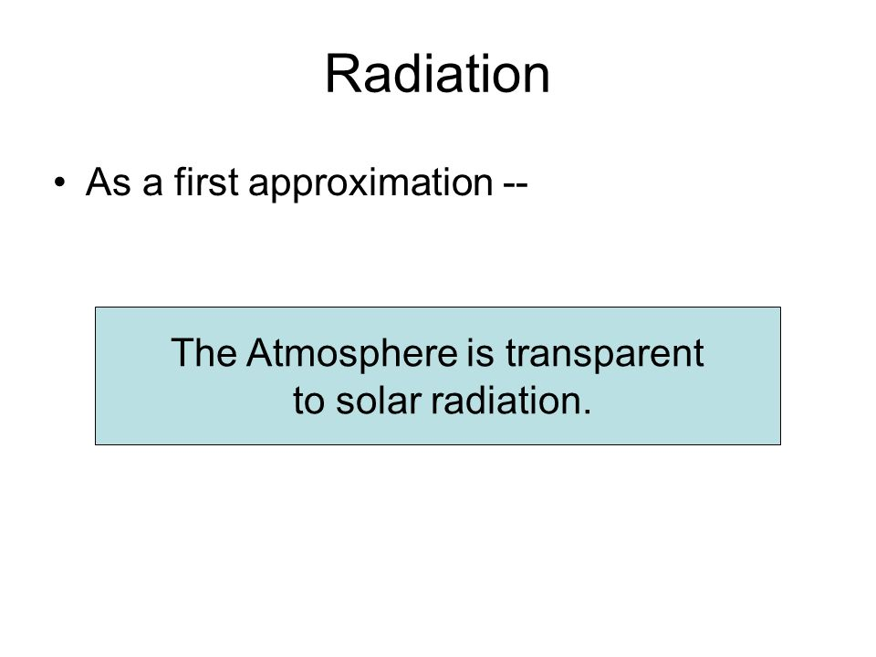 The Atmosphere is transparent