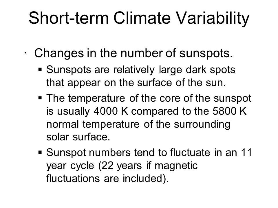 Short-term Climate Variability