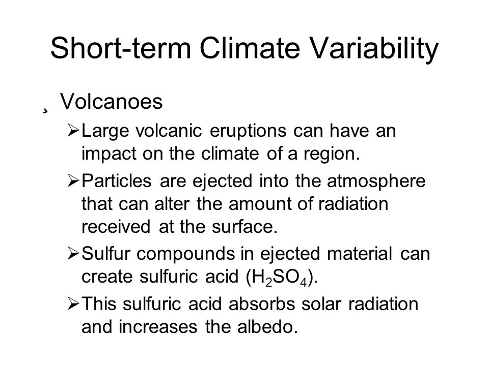 Short-term Climate Variability