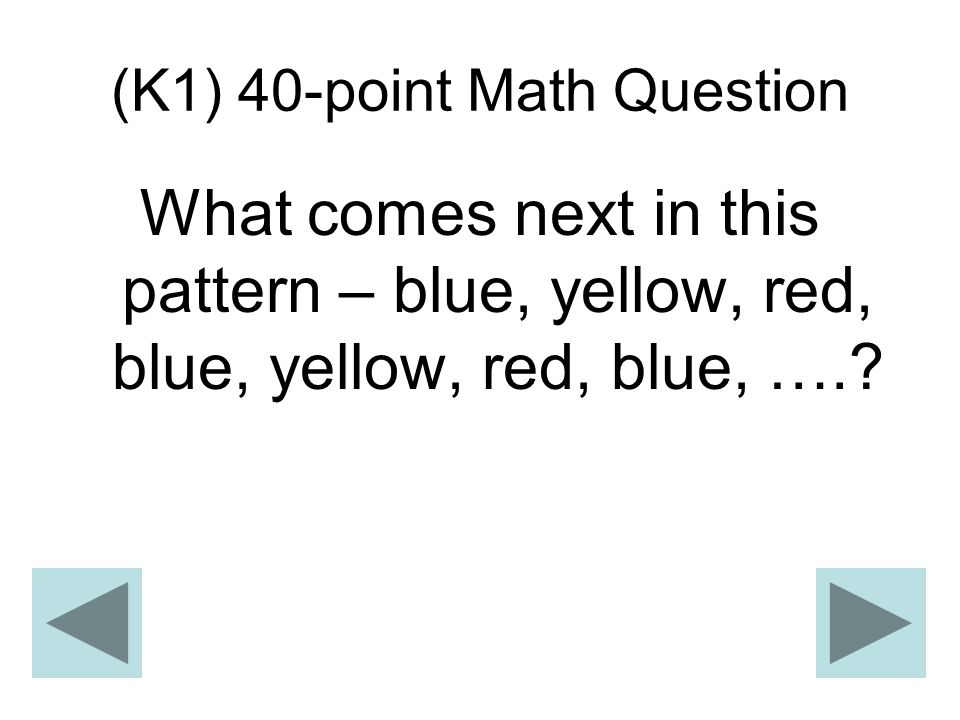 (K1) 40-point Math Question