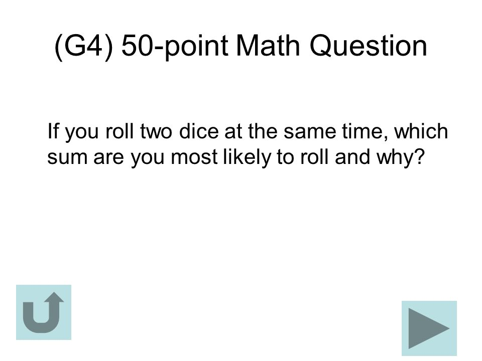 (G4) 50-point Math Question
