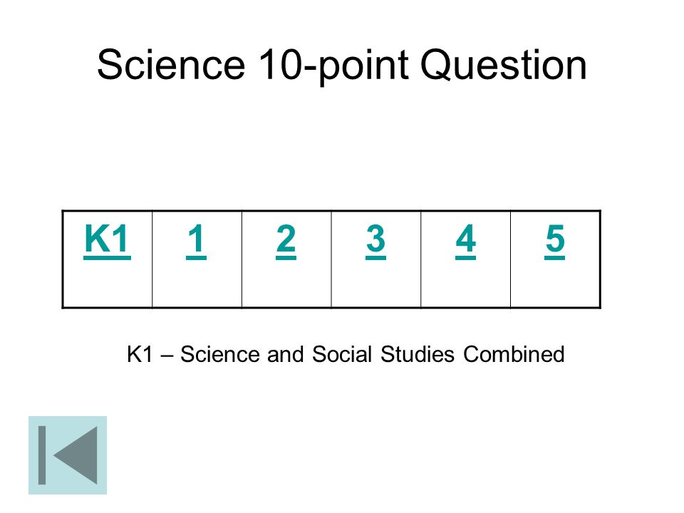 Science 10-point Question