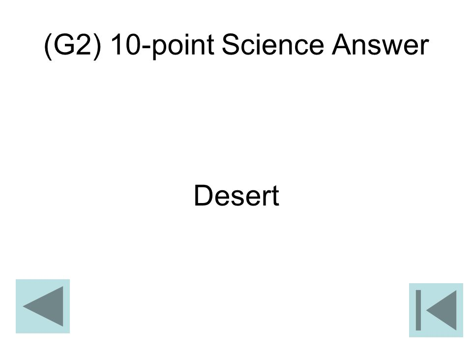 (G2) 10-point Science Answer