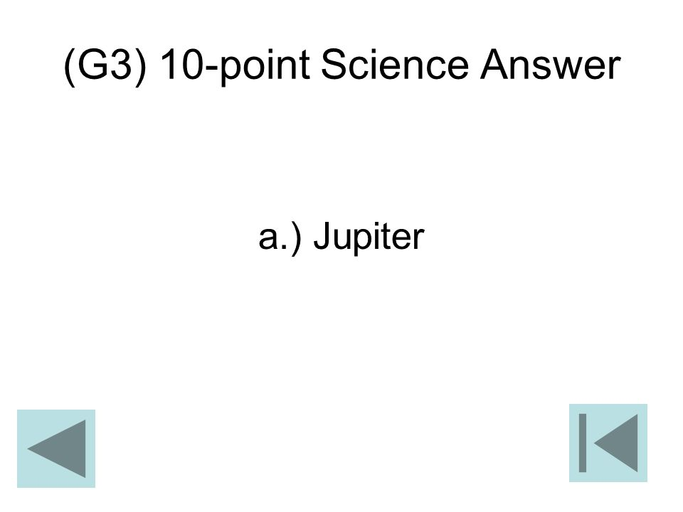 (G3) 10-point Science Answer