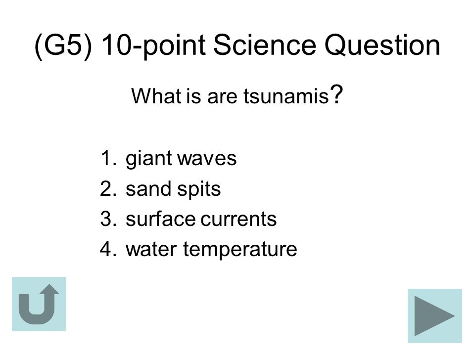 (G5) 10-point Science Question