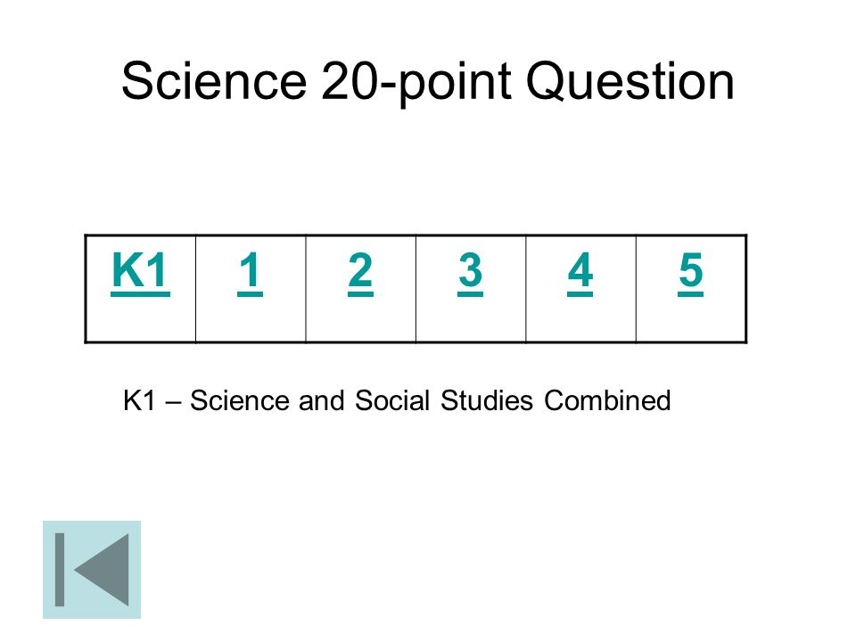 Science 20-point Question