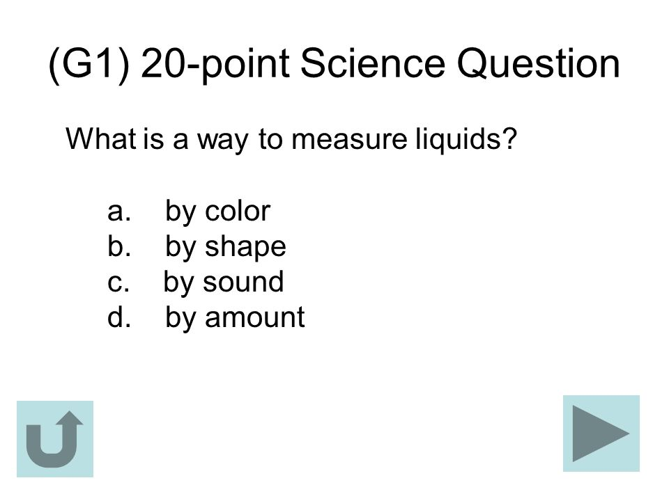 (G1) 20-point Science Question