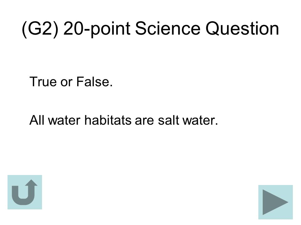(G2) 20-point Science Question