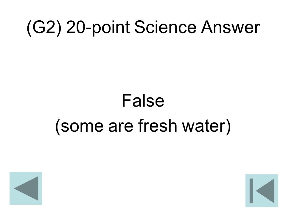 (G2) 20-point Science Answer