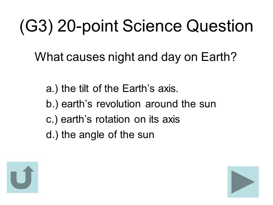 (G3) 20-point Science Question