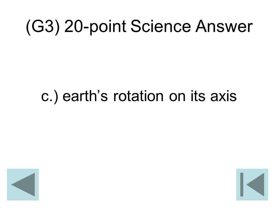 (G3) 20-point Science Answer