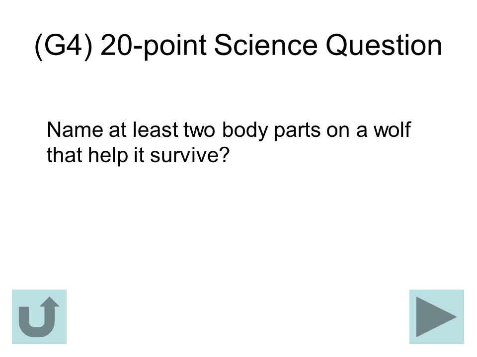 (G4) 20-point Science Question