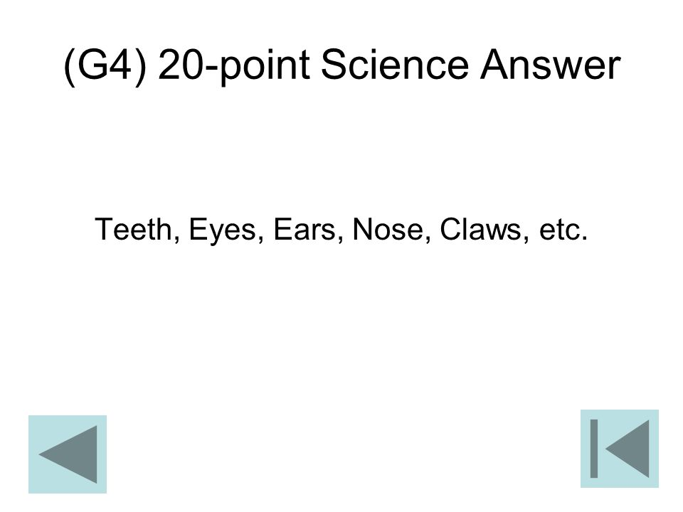 (G4) 20-point Science Answer