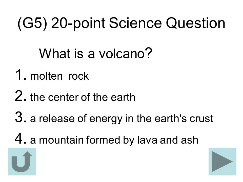 (G5) 20-point Science Question
