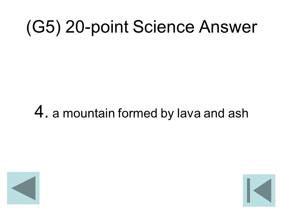 (G5) 20-point Science Answer