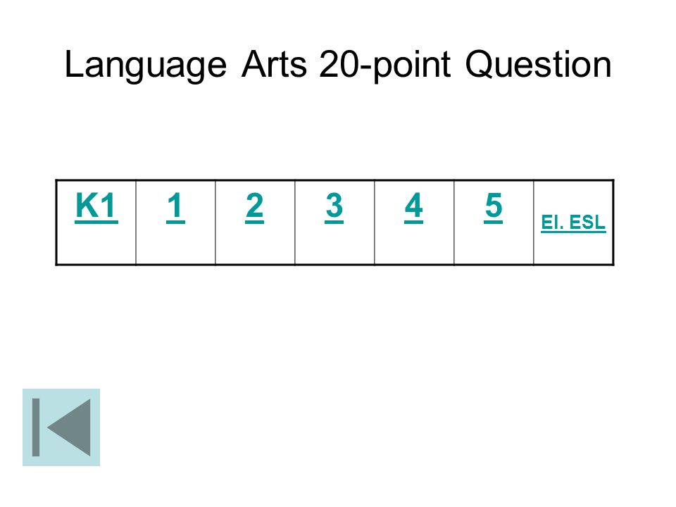 Language Arts 20-point Question